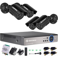 DEFEWAY 1080N P2P 8 Channel System Video Surveillance DVR KIT 4PCS Outdoor IR Night Vision 1.0 MP with Emergency battery