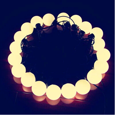 Warm white LED Christmas lights;ball type;40mm diameter;5M 20LED Ball String Lights Waterproof+220~240V Power Plug/AC90-130V