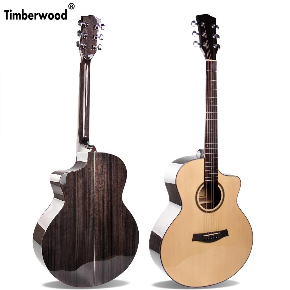 Handmade 41 inch Guitar Solid Sitka Spruce Walnut Acoustic Guitar Black Guitar Stain AGT116Handmade 41 inch Guitar Solid Sitka Spruce Walnut Acoustic Guitar Black Guitar Stain AGT116