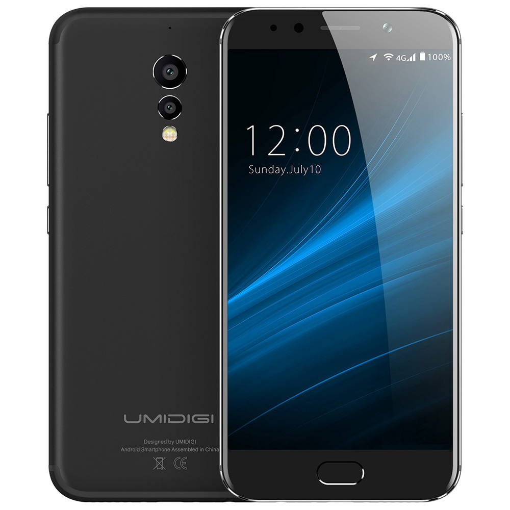 UMIDIGI S 5.5 ''FHD 4 GB + 64 GB 4G Smartphone 13MP + 5MP Posteriore Dual telecamere Helio P20 Octa Core Anteriore Touch ID Android Cellulare metallo