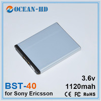 BST 40 1120mAh High End Quality Large Capacity Rechargeable Mobile Phone Battery For Sony Ericsson P1