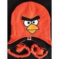 2017 New New Крючком Свинья Hat Orange Angry birds Hat Angry birds Аксессуаров Крючком Животный Шлем 100% Идеальный Рождественский Подарок