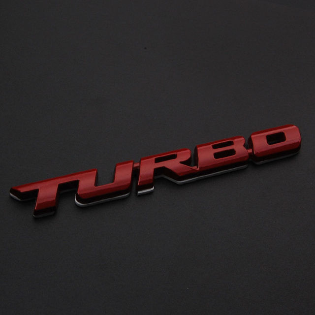 BBQFUKA Car Emblem Sticker RedBlackSilver TURBO METAL Rear Trunk - Audi car emblem