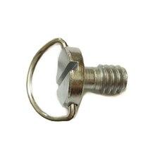 """Tornillos de cámara de anillo en D de 1/4 """"para trípode de cámara DSLR, placa de liberación rápida, 50 unids/lote"""