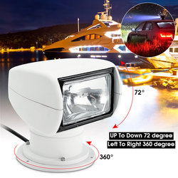 Smuxi Scheinwerfer 12V 100W 2500LM 3200K Marine Suchscheinwerfer Glühbirne PC + Aluminium Fernbedienung Multi- abgewinkelt Weiß