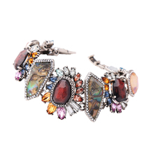 KISS ME Multi Color Geometric Flower Natural Stone Charm Bracelet New Design Hand Chain Fashion Jewelry