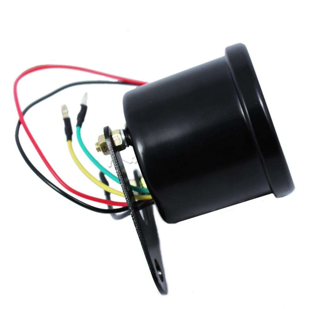 Universal Motorcycle Tachometer Gauge 13000 RPM 12v Սև - Պարագաներ եւ պահեստամասերի համար մոտոցիկլետների - Լուսանկար 6
