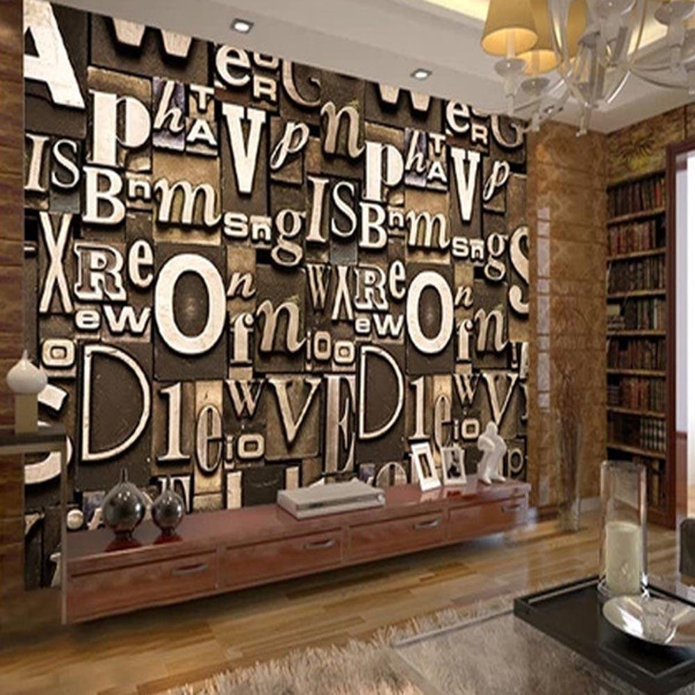 Classic English Capital Letter Wallpaper 3D Embossed Murals foto ...
