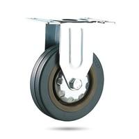 Set Of Heavy Duty 125x27mm Rubber Swivel Castor Wheels Trolley Caster Brake 100KGModel 4
