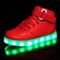 Luz luminosa lanterna usb shoes crianças shoes shoes do diodo emissor de luz