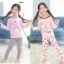 Kids Girls Pajamas Sets Princess Pyjamas Kids Pajama Infantil Sleepwear Home Clothing Cartoon Cotton Teenage Pijama 1-10T