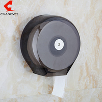 CHANOVEL Large Roll Toilet Paper Holder Plastic Towel ABS Toilet Paper Holder Bathroom Tissue
