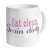 Tren Kirli Temiz yemek Benzersiz Kupalar Kahve Çay Süt Bardak Suyu Su Kamp Kupa Copo Seramik Yaratıcı Ofis Beyaz Kupalar