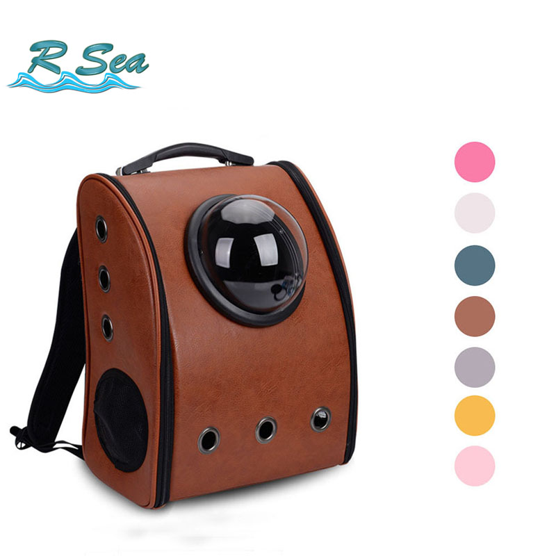 Breathble PU Backpack or Portable Cat Shoulder Backpack Pet Travel Cave Pet Products for Puppy DropShipping Support