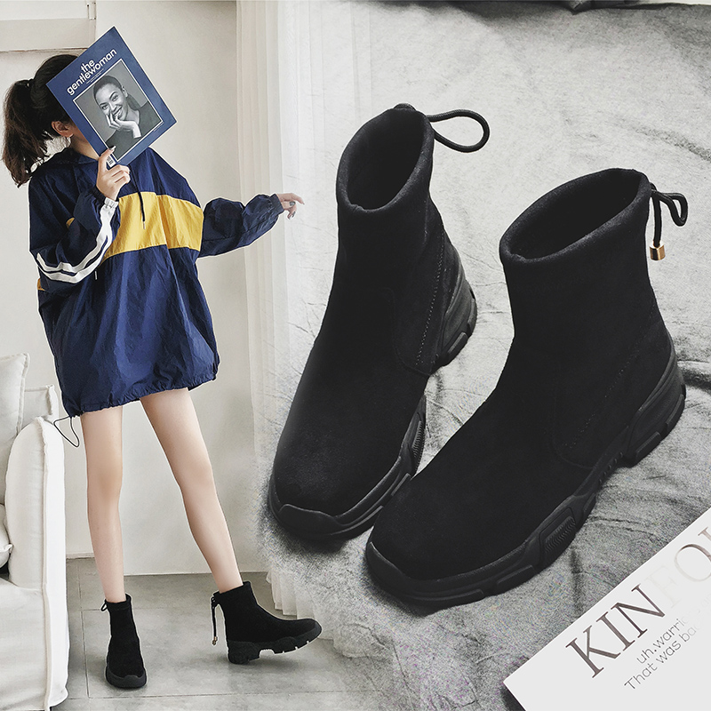 MYCOLEN Genuine Leather Motorcycle Boots Comfort Chelsea Shoes Woman 2018 New Autumn Winter Boots Women Shoes Buty Damskie