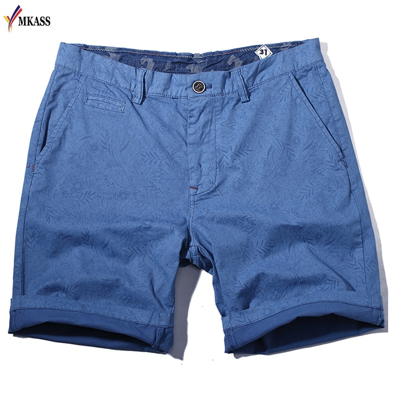 2019 New Casual Summer Easy Shorts Men Cotton Decorative Pattern Shorts Vintage Casual Men Shorts Bermuda Masculina