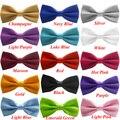 16 Colores de la Pajarita Para Los Hombres 2017 Classic Gravata Sólido Novedad Mens Tuxedo Ajustable Marca Boda Corbata Corbatas Gravatas Corbatas