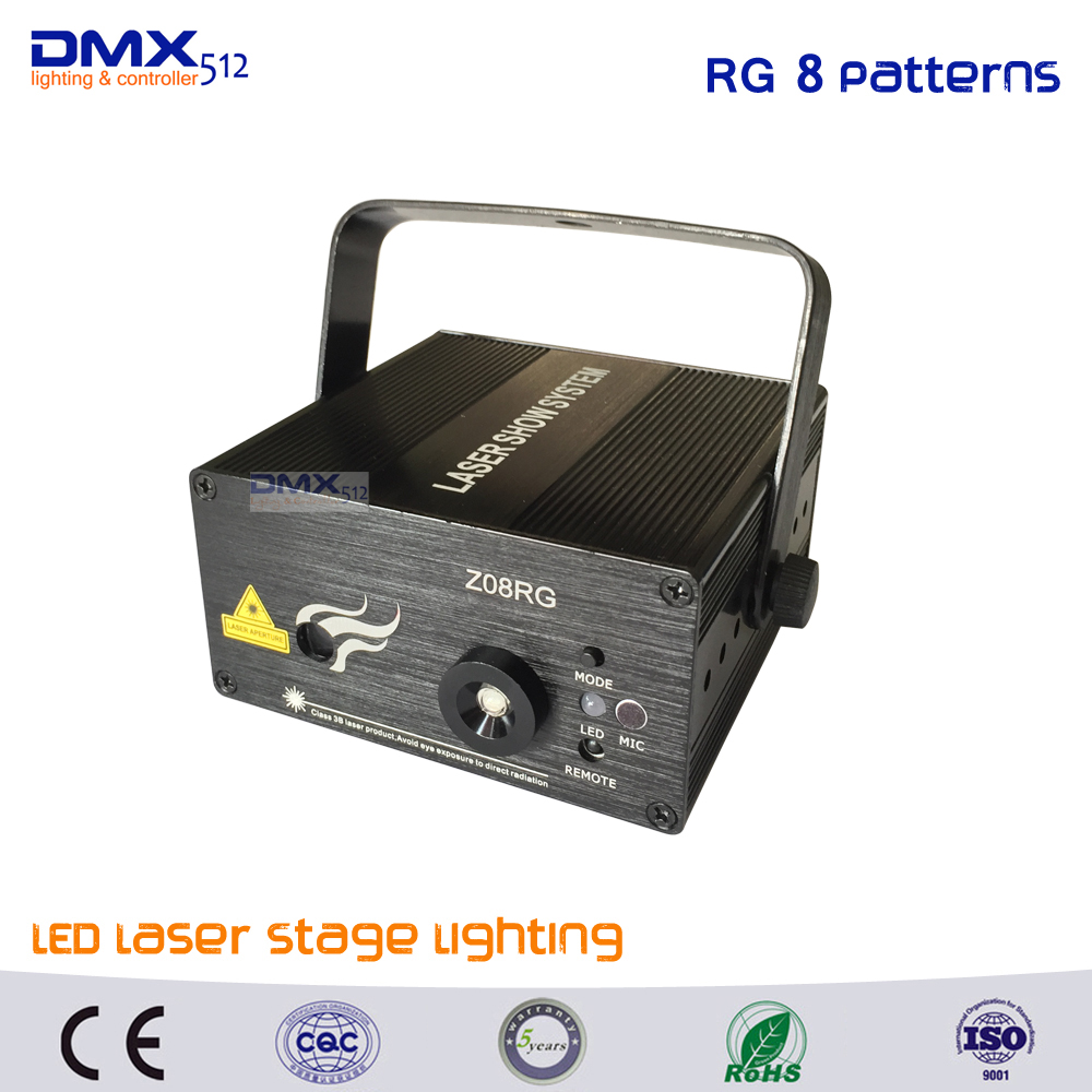 DHL Free shipping Led RG 8 Pattern Laser Projector Stage Light Effect Red Green Xmas Home Party Christmas Club Bar Blue Lights dhl free shipping led laser stage lighting 5 lens 80 patterns rg mini led laser projector 3w blue light effect show for dj disco