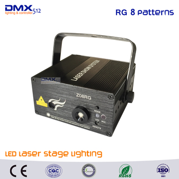 DHL Free shipping Led RG 8 Pattern Laser Projector Stage Light Effect Red Green Xmas Home Party Christmas Club Bar Blue Lights