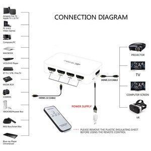 Image 3 - 4 Poort 18Gbps Hdr 4K Hdmi Switch 4X1 Ondersteuning Hdcp 2.2 Mini Hdmi 2.0 Switcher Hub box Met Ir Afstandsbediening Voor Apple Tv