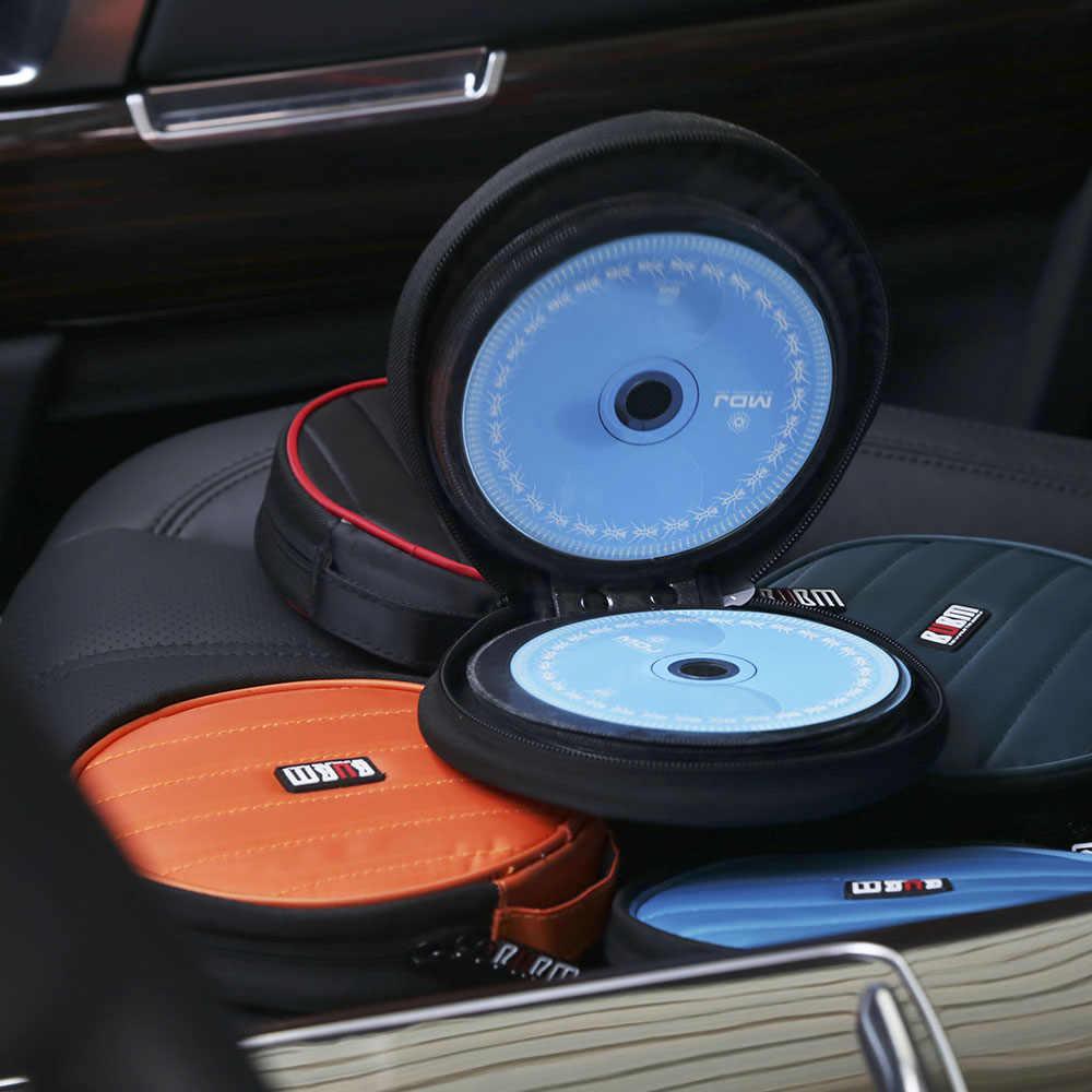 BUBM 32 Disk Kapasiteli CD/DVD Taşınabilir Taşıma Cüzdan CD Yuvarlak Dimi saklama çantası Su Geçirmez ve kaymaz CD saklama çantası