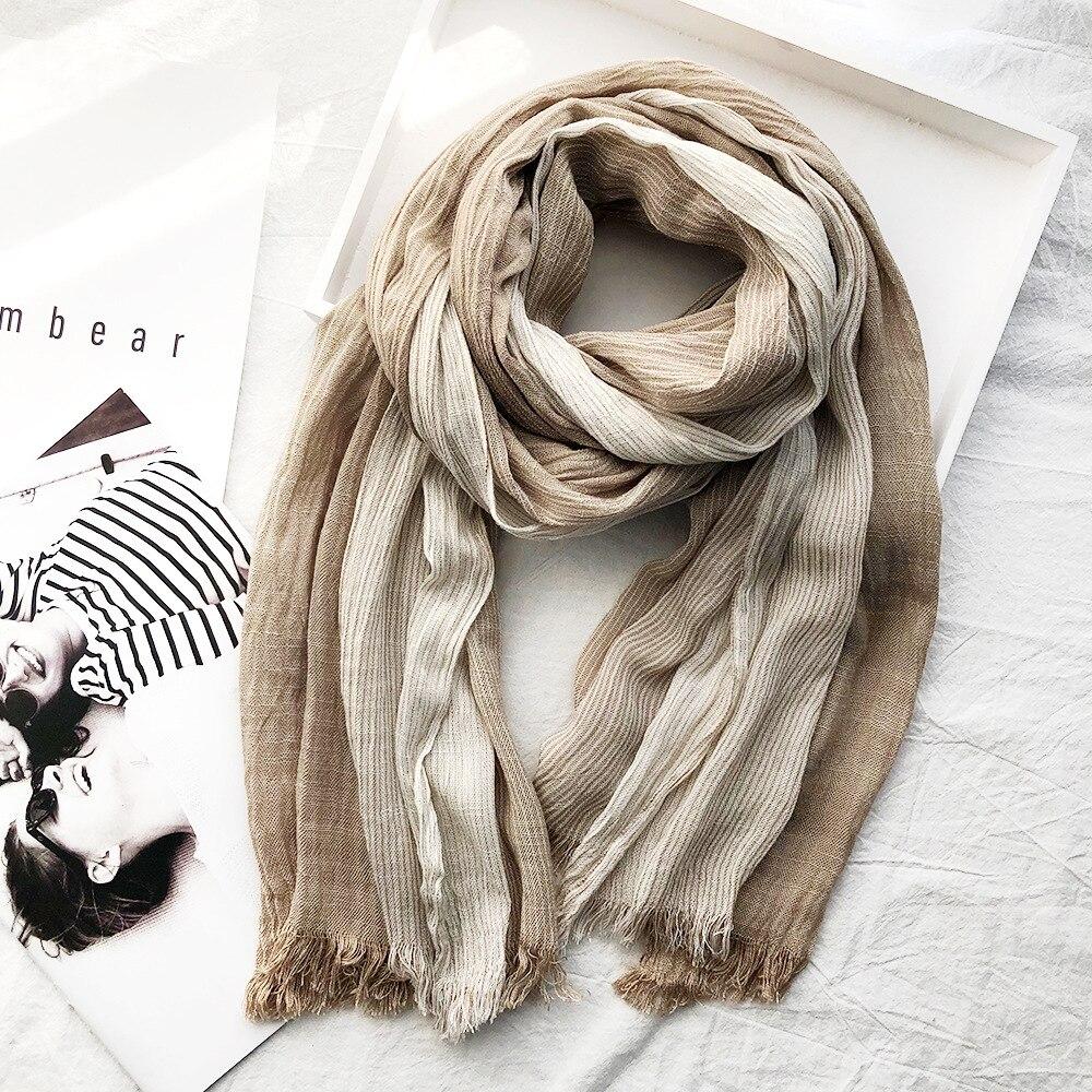 High Quality Bufandas Mens Scarf Fashion Brand Striped Scarf Spring Autumn Warm Soft Shawls Cotton Tassel Scarves