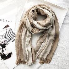High Quality Bufandas Mens Scarf Fashion Brand Striped