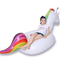 Rooxin Inflatable Float Pool Swimming Ring 200cm Unicorn Floating Swimming Pool Summer Baby Kids Bath Pool Water Fun Toys
