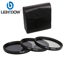 Lightdow 3 in 1 ND2 ND4 ND8 Lens Kit 49mm 52mm 55mm 58mm 62mm 67mm 72mm 77MM Neutral Density Filter 3 in 1 Lens Filter Set