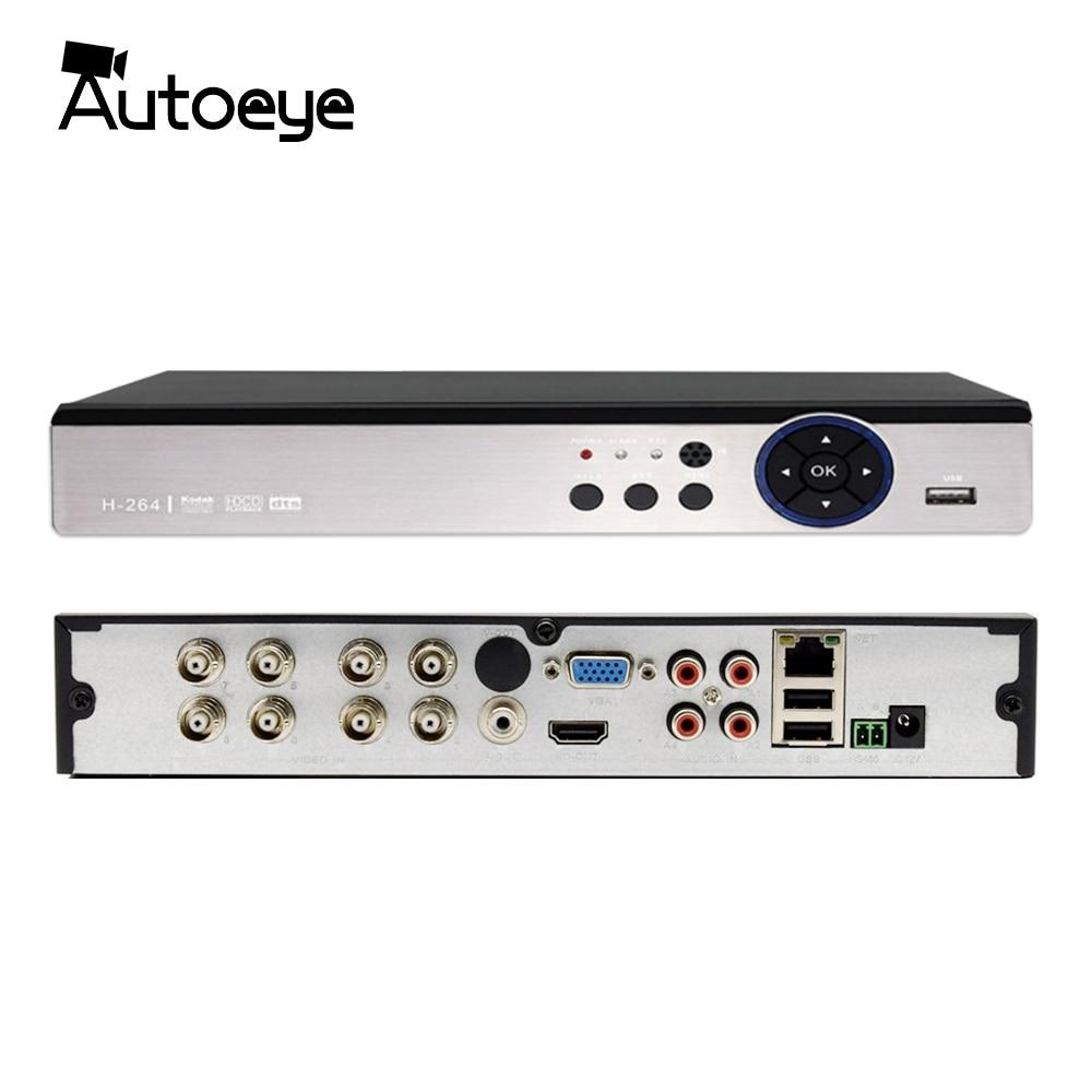 Autoeye 4CH 8CH 5MP Hybrid DVR 1 IN 5 CCTV DVR Support 5MP AHD Camera P2P Audio Input XMEye autoeye cctv camera power adapter dc12v 1a 2a 3a 5a ahd camera power supply eu us uk au plug