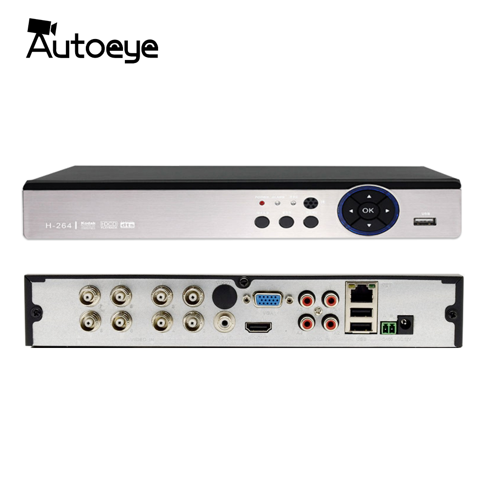 Autoeye 4CH 8CH 5MP Hybride DVR 1 EN 5 CCTV DVR Soutien 5MP AHD Caméra P2P Audio Entrée XMEye