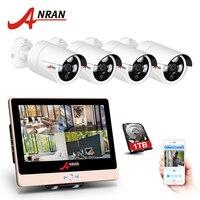ANRAN P2P 1080P HDMI 4CH POE NVR LCD Screen Array IR Outdoor Waterproof Security IP POE