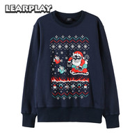 Cuphead Tidings Coaplay Hoodie Pixel Style Navy Cotton Sweatershirts Adults Top Hoodies Winter Long Sleeve Christmas Coat