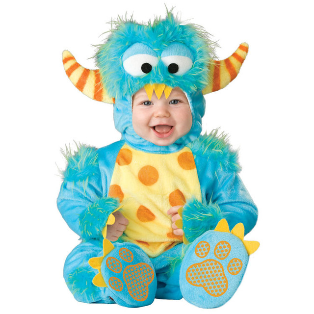 7de5bfc7732db Lil' Monster baby Halloween costume Infant funny onesie Fantasia carnival Fancy  dress Toddler baby party clothing
