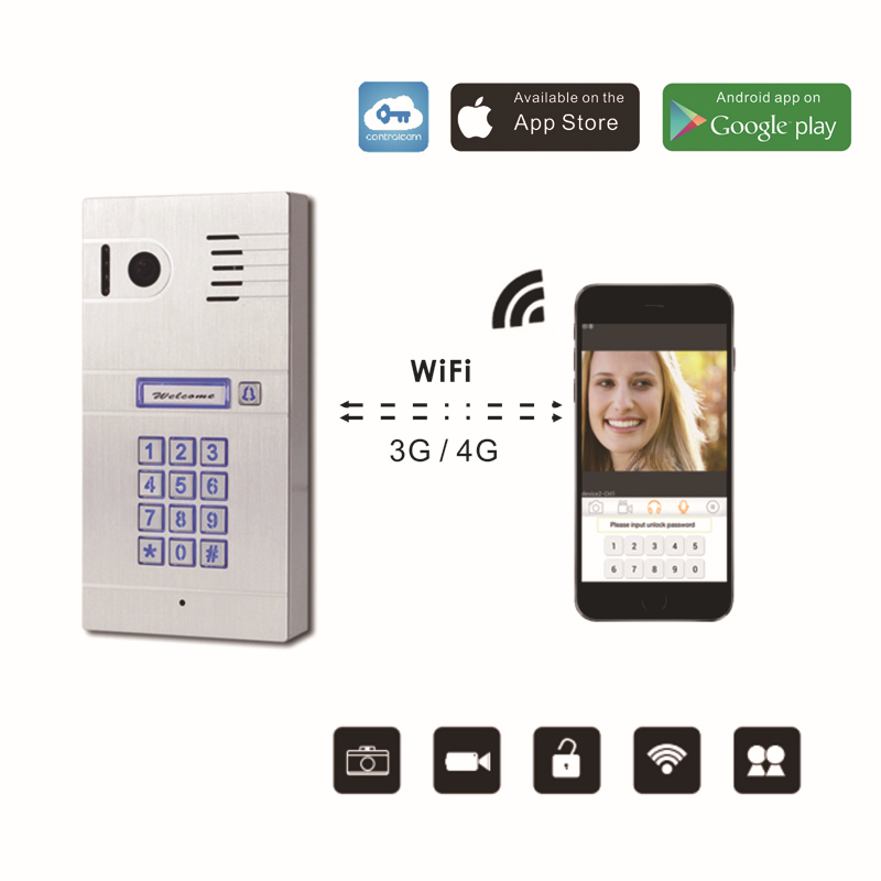 Wireless Wifi Remote Control IP Video Door Phones Wireless IP Intercom System Home Access Door Camera Doorbell phone comfast ac200 orange os system full gigabit wifi control ac gateway routing wireless roaming wifi coverage project manager route