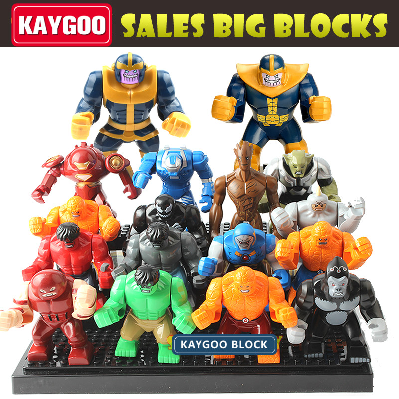 Kaygoo Single Sale Kids Large Block font b Toys b font Marvel Avengers Thanos Hulk Venom