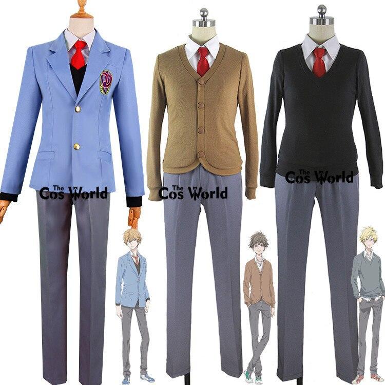 Hitorijime My Hero Asaya Hasekura Kensuke Ooshiba Masahiro Setagawa Coat Sweater Shirt Pants School Uniform Cosplay Costumes