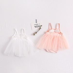 Милые сетчатые боди принцессы с крыльями для новорожденных девочек на день рождения, детские комбинезоны без рукавов, платье для малышей, л...