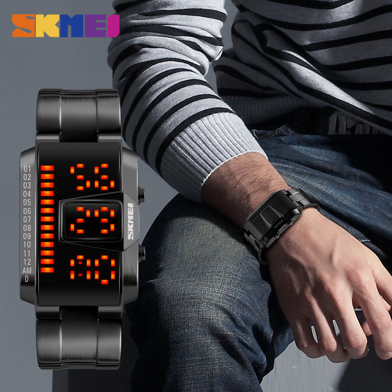 Casual LED Sports Watches Men 5ATM Waterproof Watch Digital Wristwatches SKMEI Luxury Top Brand Relogio New 2018 Electronics