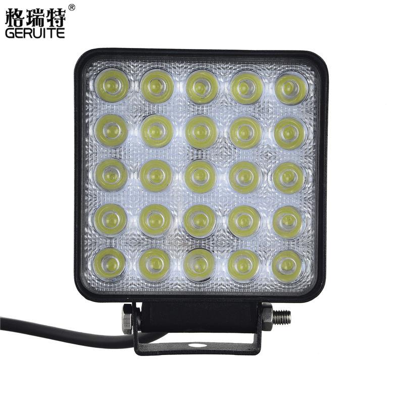 Prix pour 75 W 1 pc LED Voiture Lumières Forme Carrée Blanc Froid LED Travail lumières 12-24 V Étanche 25 LEDS Offboard Bateau De Voiture Lumières Bateau Éclairage