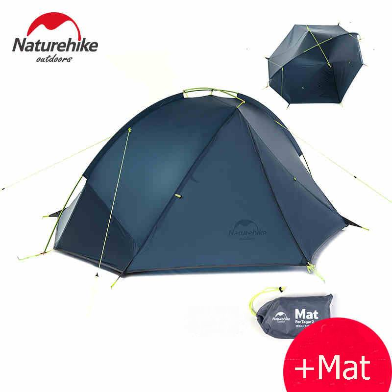 Outdoor Ultralight Silicone Coating Sinlge Layer Waterproof PU4000 Tents Aluminum Rod 1-2People Tent Anti Heavy Rain Navy Green outdoor 2 person 20d silica gel coating waterproof double layer tent aluminum rod portable ultralight camping tents pu4000mm