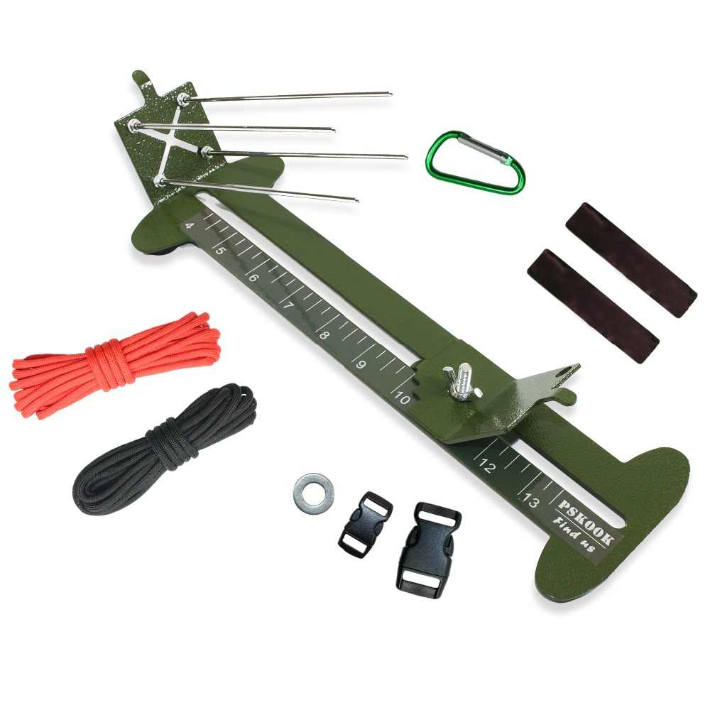 """PSKOOK Monkey Fist Giga Giga e Cordini Di Sicurezza Bracciale Maker Para cord Tool Kit In Metallo Regolabile Tessitura FAI DA TE Craft Maker 4 """"A 13"""""""
