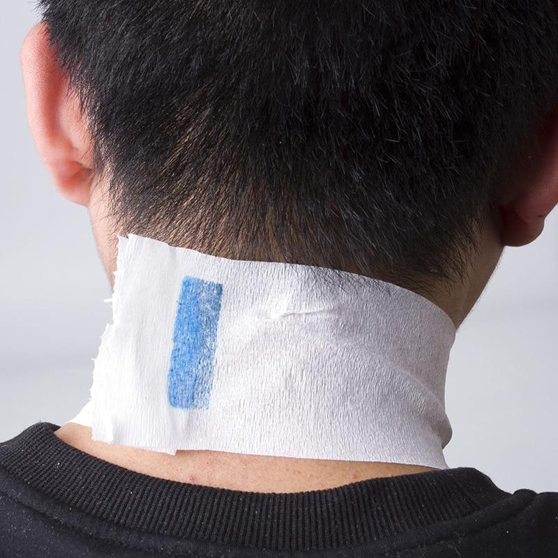 ELECOOL 100 יחידות לבן עמיד למים יוניסקס אחת-Off צוואר מתוח נייר רצועות רול מספרת אביזרי עיצוב שיער כלי