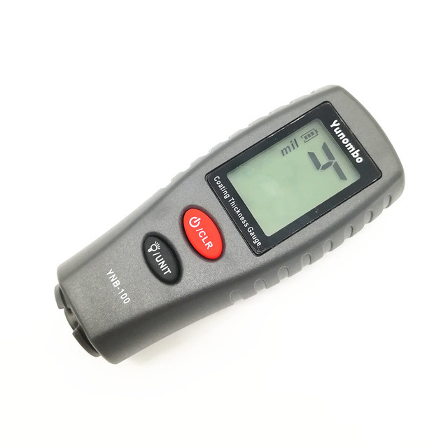 Yunombo Digital Backlight LCD Film Thickness Meter Car Paint Thickness Tester Coating Thickness Gauge YNB-100 4