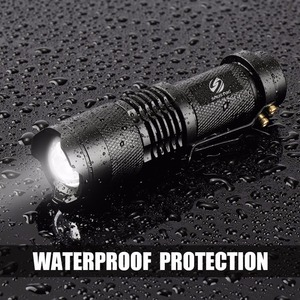 Image 5 - Mini LED Flashlight Waterproof LED Torch Adjustable Focus Flash Light Lamp use 14500 and 18650 battery For adventure, camping