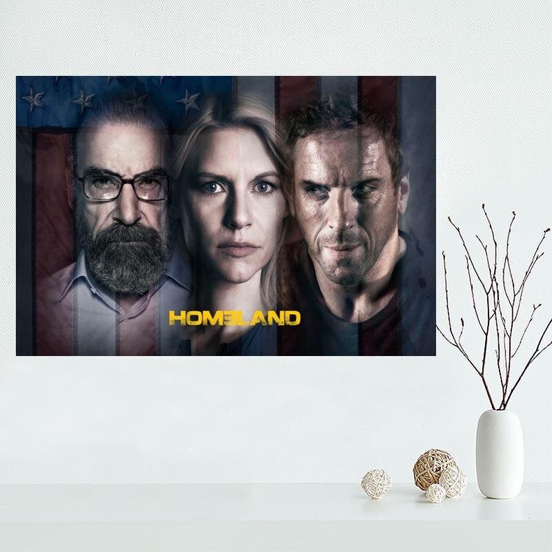 Custom Homeland Season 6 Canvas Painting Poster Home Decor Cloth Fabric Wall Art Poster 27x40cm,30x45cm,40x60cm,50x75cm,60x90cm