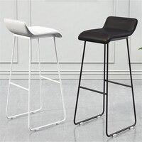 NO Nordic Bar Chair Coffee Milk Tea Shop Modern Simple Bar Stool Wrought Gold High Lounge Chair Padded Bar Chair Iron Chair