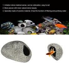 Cichlid камень аквариумный Аквариум Украшение для пруда украшение для разведения креветок Рок Пещера керамические камни Akvaryum