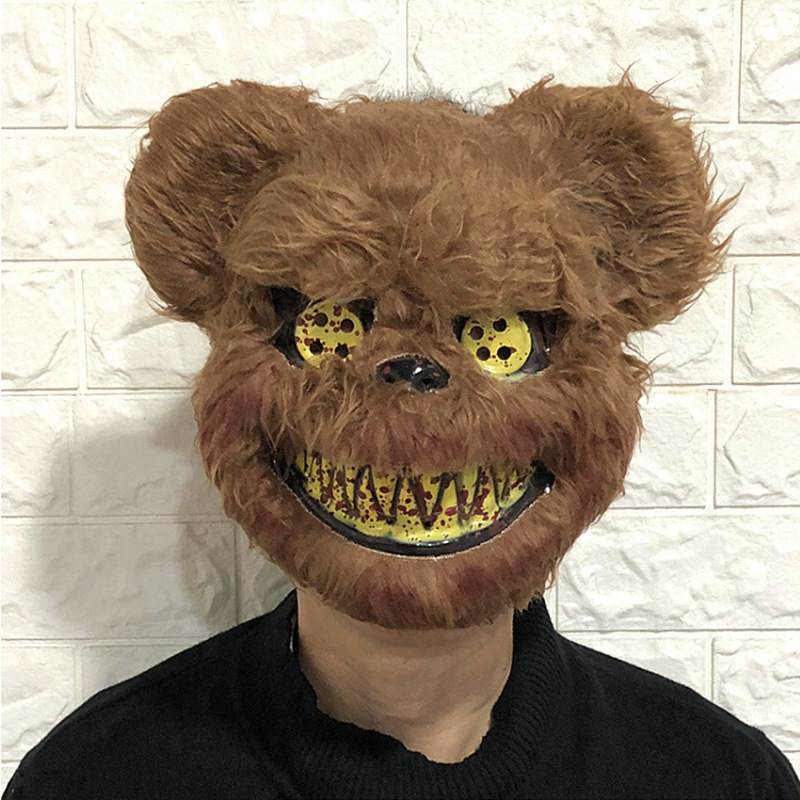Scary Animal Halloween Horror Plush Masks  4