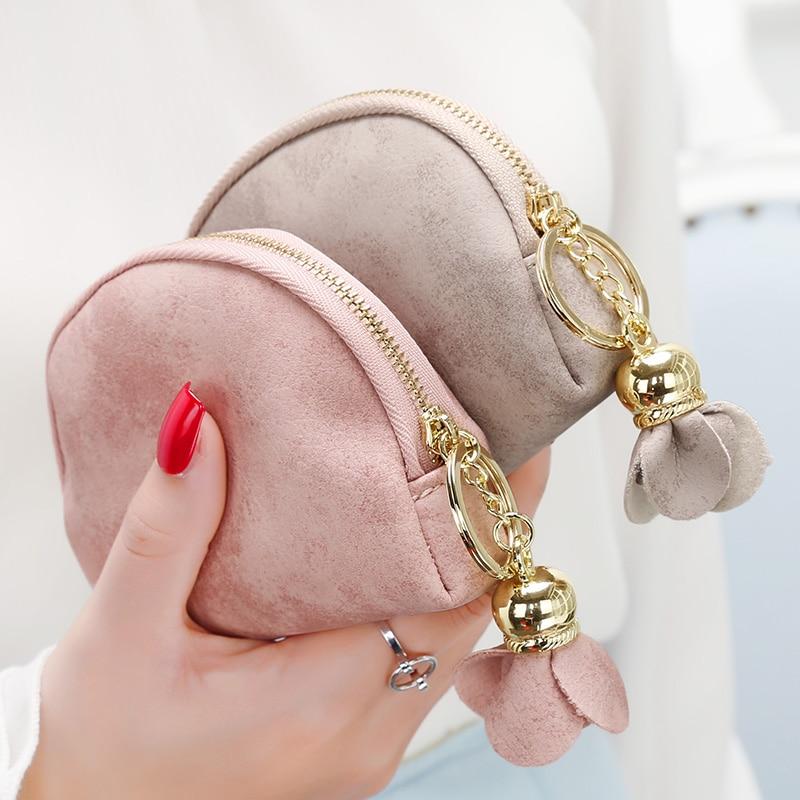 Short Lady Coin Purses Women Wallets Moneybags Female Girls Zippe Coin Purse Cards Bag Floral Wallet Burse Case Pocket Notecase